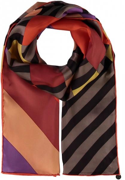 Schal mit Grafik-Print aus reiner Seide