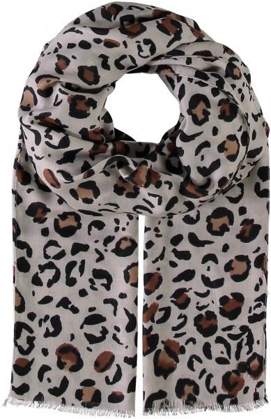 Schal mit Animal-Print aus reiner Viskose - Made in Italy
