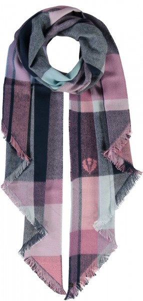Checked design scarf made of pure polyacrylic - Made in Germany
