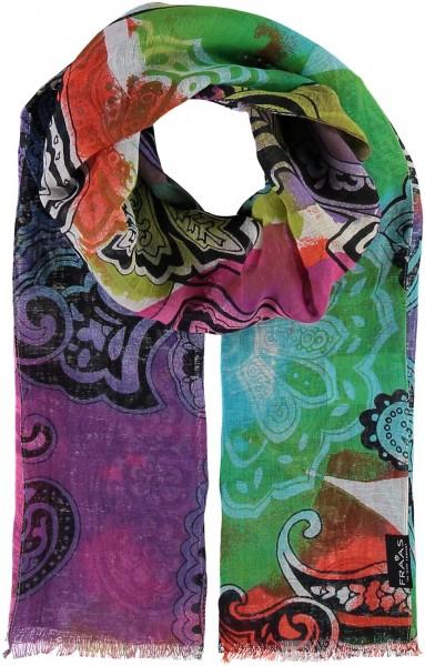 Schal mit Paisley-Design in Baumwollmischung , Made in Italy