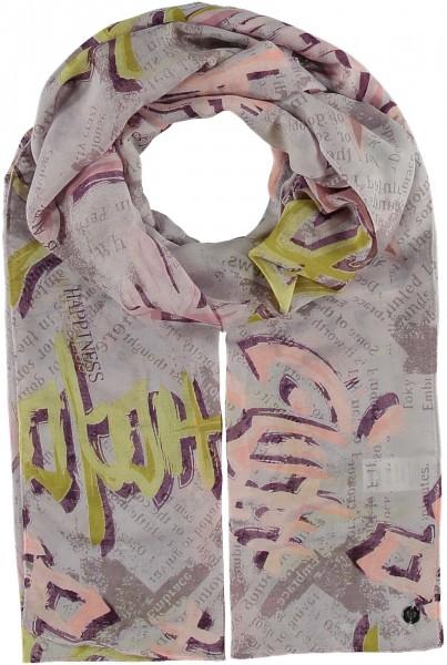Schal mit Asiatischen Schriftzeichen