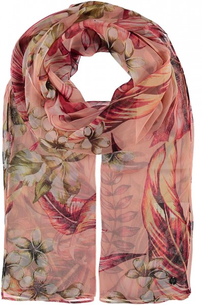Silk stole with floral print