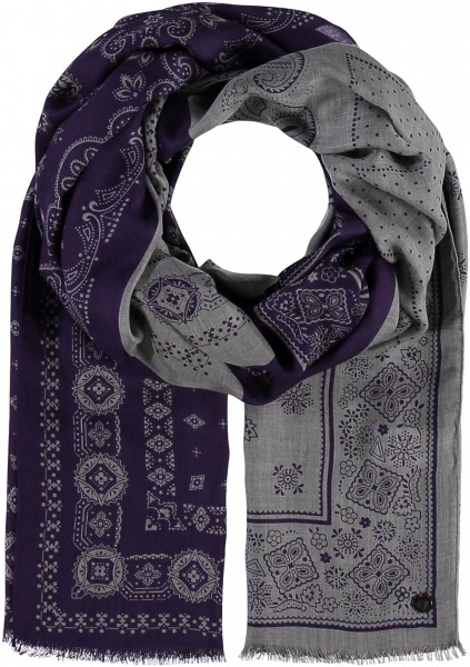 Stole with paisley print made of pure modal - Made in Italy