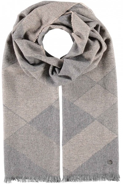 Pure cashmere scarf with plaid design - Made in Germany