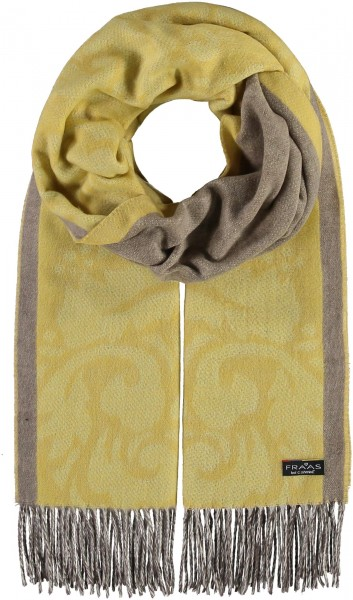 Cashmink® Scarf with Floral Ornaments - Made in Germany