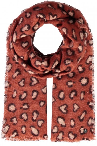 Stole with animal print made of pure polyacrylic