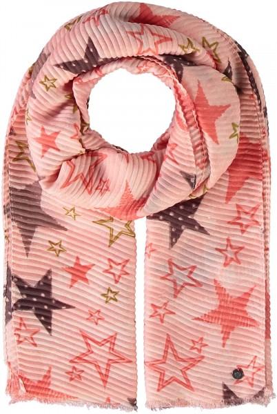 Plissee-Stola mit Sternen-Print aus reinem Polyester