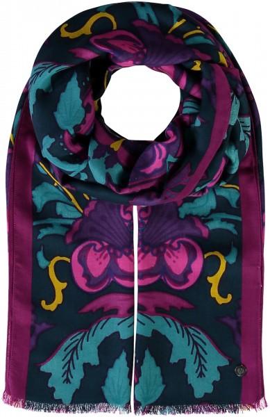 Schal mit Paisley-Druck aus reiner Viskose - Made in Italy