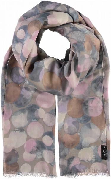 Schal mit Grafik-Print aus reiner Viskose - Made in Italy
