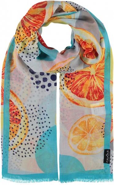 Schal mit Grafik-Print aus reiner Viskose , Made in Italy