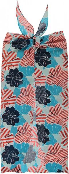 Pareo mit Floral-Print aus reiner Baumwolle