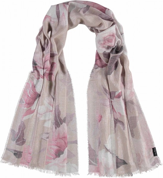 Stola mit Floral-Print in Polyestermischung - Made in Italy