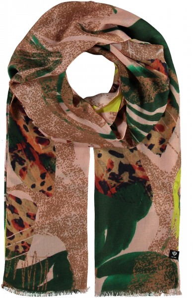 Schal mit floralem Print - Made in Italy