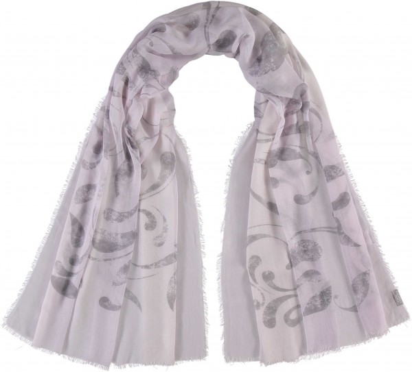 Stola mit Ornament-Print in Modalmischung , Made in Italy