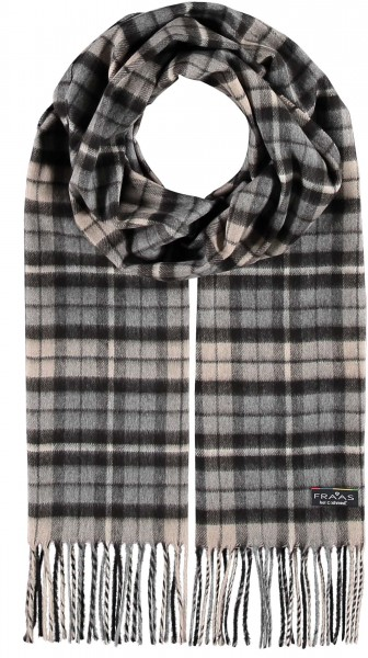 Cashmink® scarf with plaid design - Made in Germany
