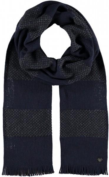 Schal mit Streifen-Design aus reiner Wolle - Made in Germany