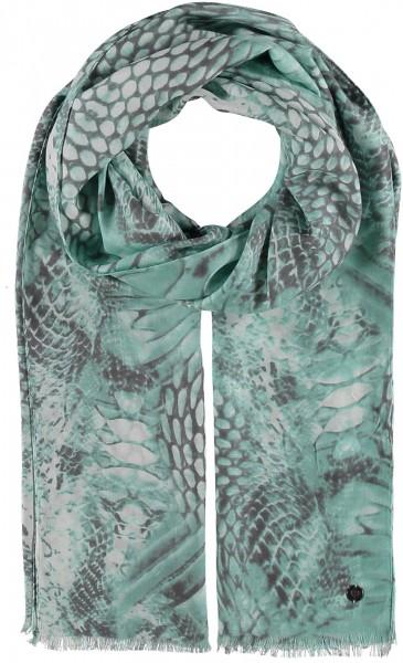 Viskose-Schal mit Snake-Print