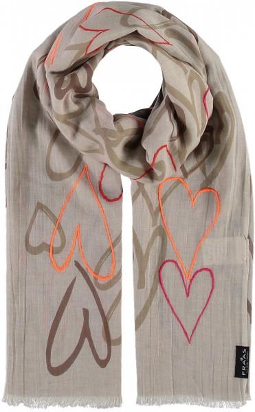 Schal mit Grafik-Print aus reiner Baumwolle