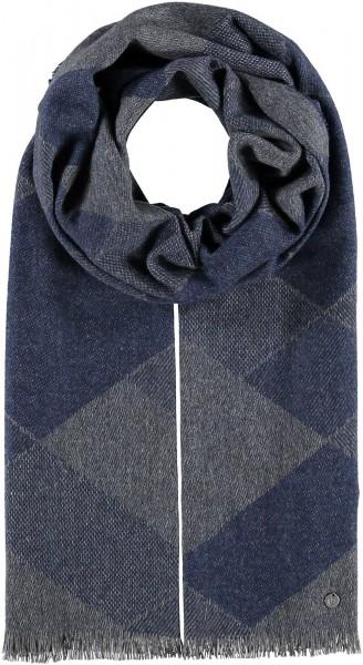 Schal mit Karo-Design aus reinem Kaschmir - Made in Germany