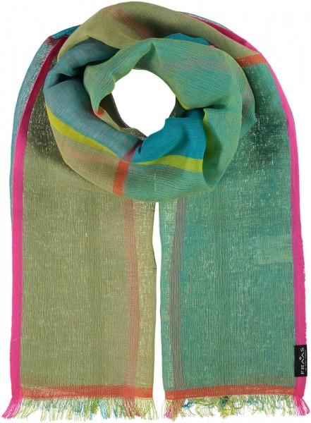 Schal mit Grafik-Design in Baumwollmischung