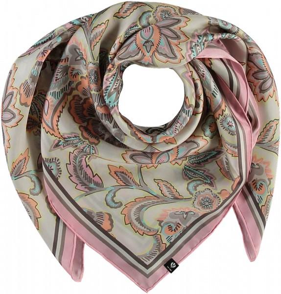 Silk scarf with paisley print