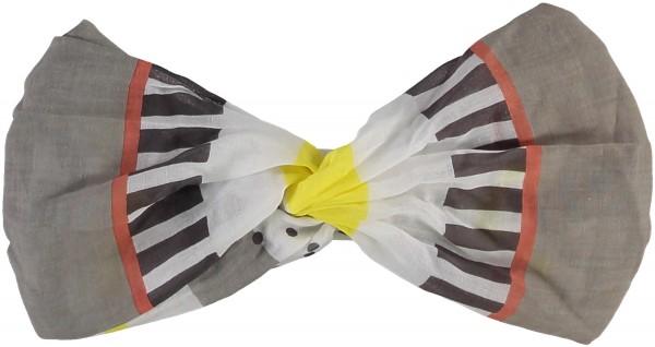 Stirnband mit Grafik-Print aus reiner Baumwolle