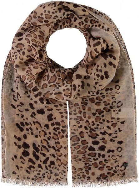 Schal aus Polyester mit Leoparden-Druck