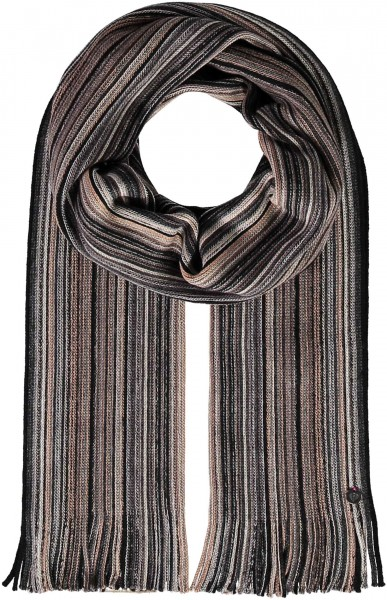 Pure wool scarf in stripes design - Made in Germany