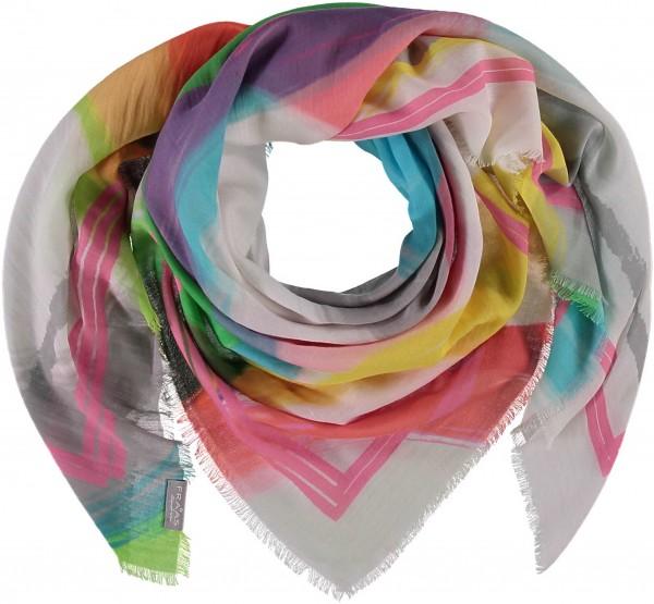 Tuch mit Grafik-Print in Baumwollmischung , Made in Italy