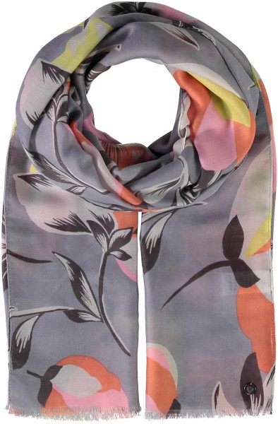 Floral-print stole made of polyester