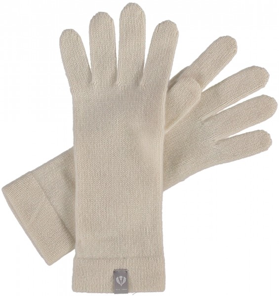 Knit gloves in pure cashmere