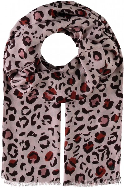 Pure viscose scarf with animal print - made in Italy