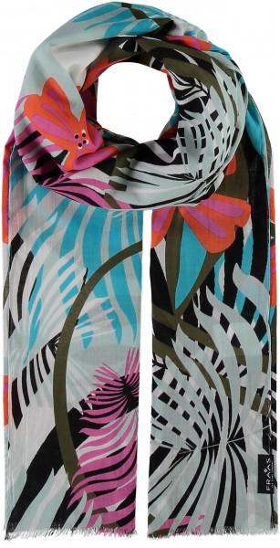 Schal mit Floral-Print aus reiner Baumwolle