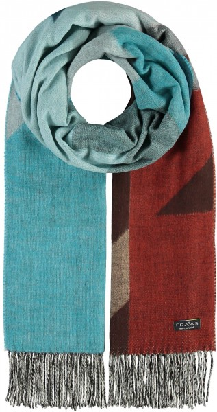 Cashmink® scarf with XXL houndstooth - Made in Germany
