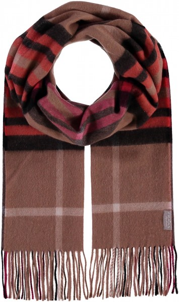 Pure cashmere scarf with FRAAS Plaid