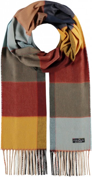 Cashmink® Scarf with Box Check - Made in Germany