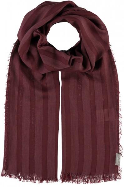 Schal mit Streifen-Design in Modalmischung , Made in Italy