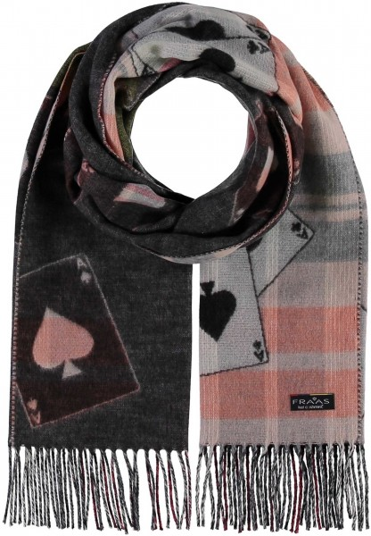 Cashmink® scarf with graphic design - Made in Germany