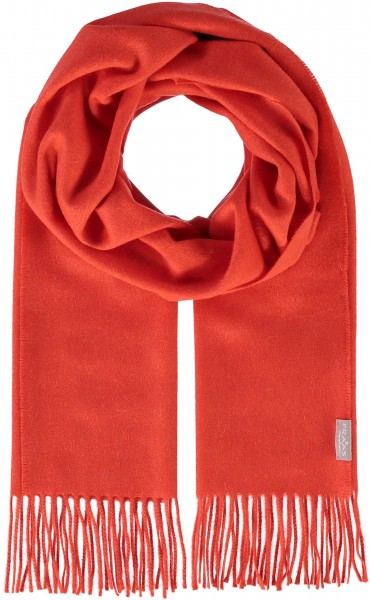 Pure cashmere scarf with fringes
