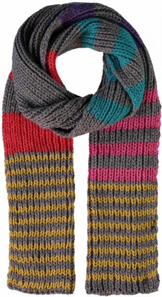 Knitted scarf made in polyacrylic blend