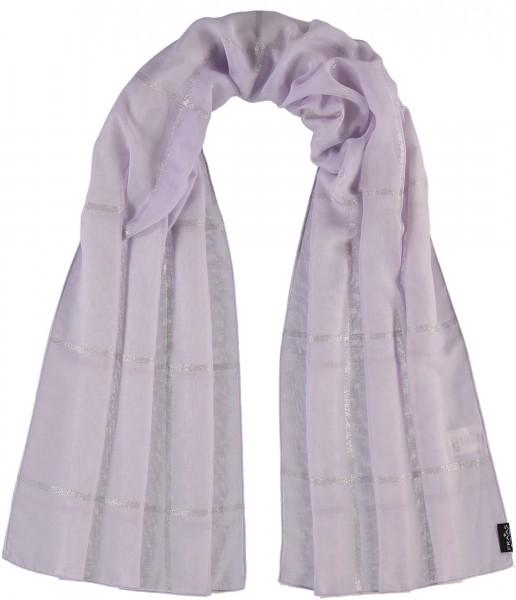 Schal aus reinem Polyester mit metallic Karo