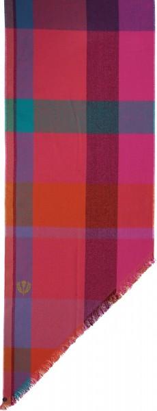 Schal mit Karo-Design aus reinem Polyacryl - Made in Germany