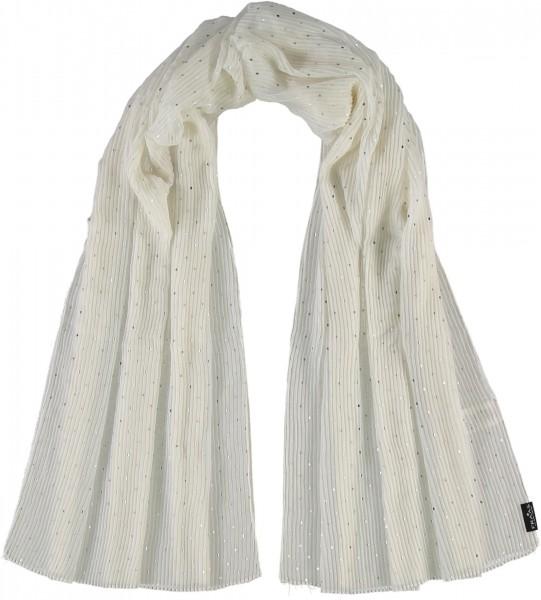 Stola mit Plissee aus reinem Polyester