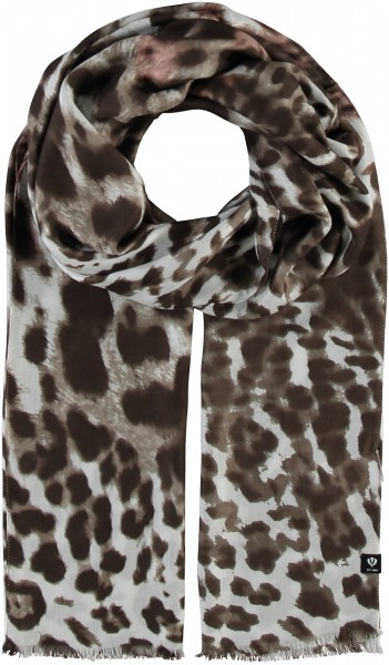 Schal mit Animal-Print - Made in Italy